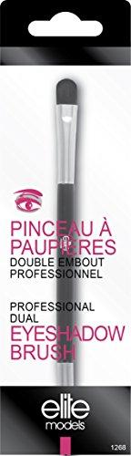 Elite Models Pinceau à Paupière Double Embout Professionnel