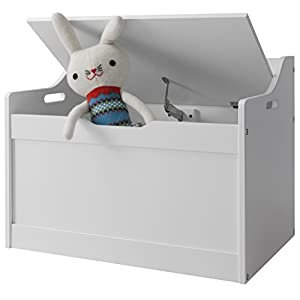 Lola Toy Box in White Toy Storage Organiser Noa & Nani