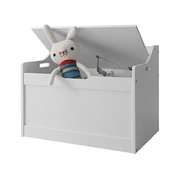 Lola Toy Box in White Toy Storage Organiser Noa & Nani