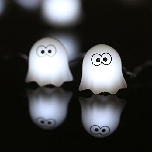 docooler Halloween Licht der-Lichterkette 40LED 3M/10ft A Batterie Fee Lampe für Innen Außen - Schädel Halloween-lichter