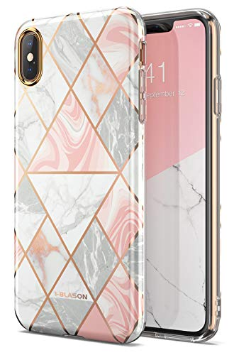 i-Blason Hülle für iPhone XS Max Handyhülle Slim Case Premium Schutzhülle Dünn Backcover [Cosmo Lite] für  iPhone XS Max 6.5 Zoll, Marmor -
