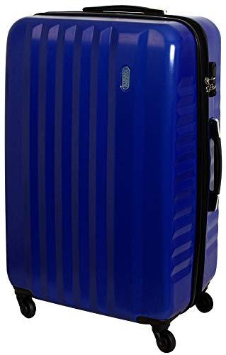 XXL Hartschalen Koffer Trolley Reise TSA Schloss 100 Liter Blau 822