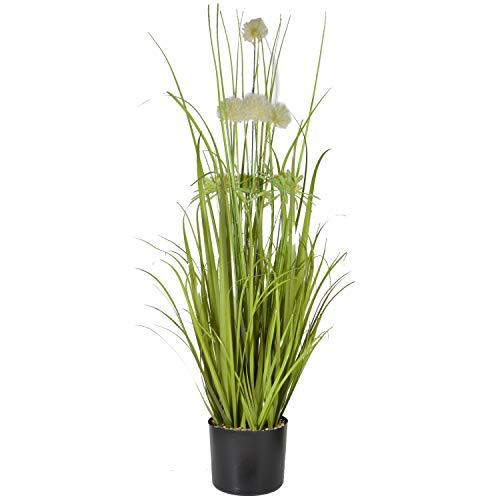 INtrenDU Künstliches Pampasgras 85cm Kunstpflanze im Topf