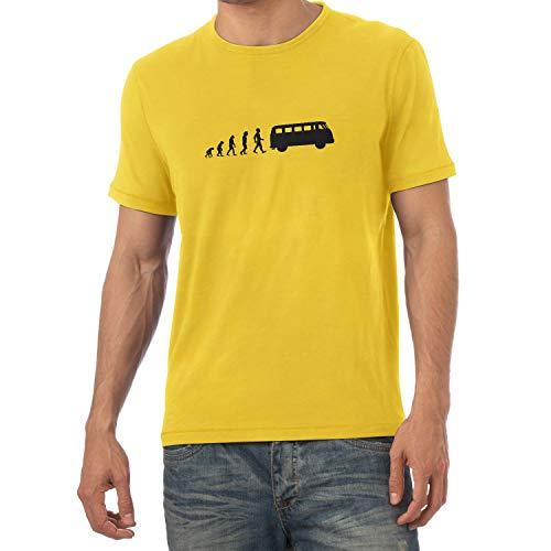 Bulli T1 Evolution - Herren T-Shirt, Größe XL, gelb