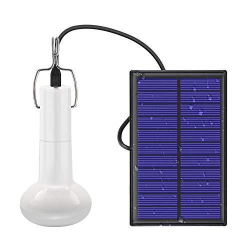 Jirvyuk Lampadina Solare Portatile con Pannello Solare Lampade Solari Portatili Ricaricabili per Campeggio Esterno Per Tenda da Trekking