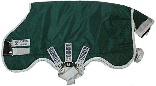 Horseware Rambo Original mit Leg Arches Pferdedecke 145cm ohne Füllung Green/Silver -