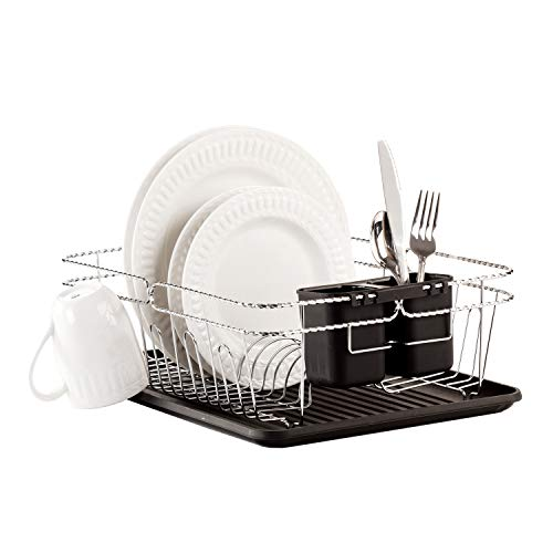 3 PIECE TWISTED CHROME DISHRACK by KENNEDY HOME COLLECTION