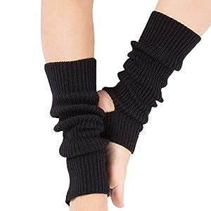 HATCHMATIC Berufsfrau Beinschutz Yoga Socken Lage Latin Dance Leg Sets Strickschutz Wolle Yoga Ort: Schwarz