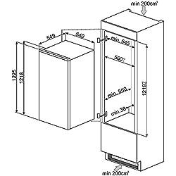 Smeg S3L120P Built-in 208L A+ fridge - fridges (Built-in, Right, Glass, 208 L, 212 L, SN-T)