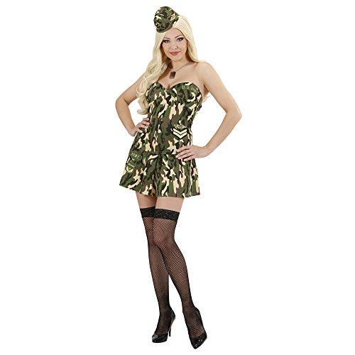 Widmann 89091 - Erwachsenenkostüm Sexy Soldatin, Größe S