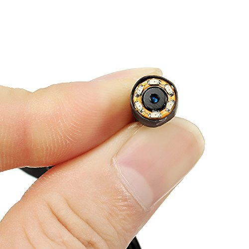 LaDicha 3.6 mm 1200TVL 1/4 CMOS Pal/NTSC Night Vision Mini FPV Kamera IR Sensitiv w/Audio - Ntsc