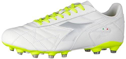 Diadora M.Winner RB Lt Mg14, Chaussures de Football Homme Blanc Cassé (Bianco Giallo Fl Dd)