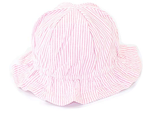 JOSSOIOJ Baby, Kleinkind Sonnenhüte Lovely Floral Embroidered Cotton Sun Bucket Hats (Color : Pink, Size : ONE SIZE)