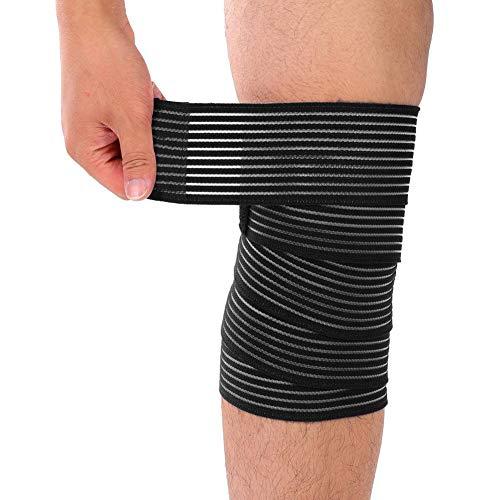 Haofy Verstellbar Kniebandage, Sportbandage Kompressions Kniehülse Kniebandage Sleeve für Damen Herren, Knee Wraps Knieschützer für Laufen Sport Bodybuilding Gelenk Patella Schmerzlinderung - Bodybuilding-knee Wraps