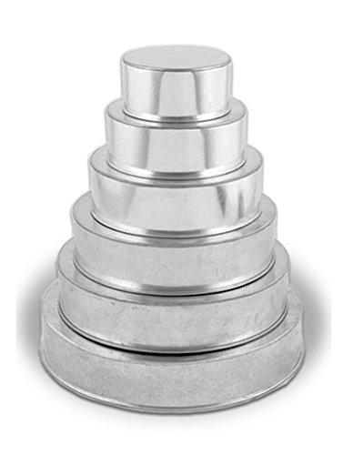 6 Tier Round Multilayer Birthday Wedding Anniversary Cake Tins