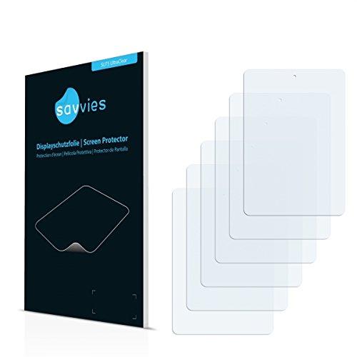 6x Savvies SU75 UltraClear Bildschirmschutz Schutzfolie für Allview Viva Q8 (ultraklar, mühelosanzubringen)