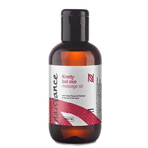 Naissance Huile de Massage Sensuelle et Aphrodisiaque « Knotty but Nice » - 100ml - Mélange 100% naturel d'huile de Pépins de Raisin et d'huiles essentielles