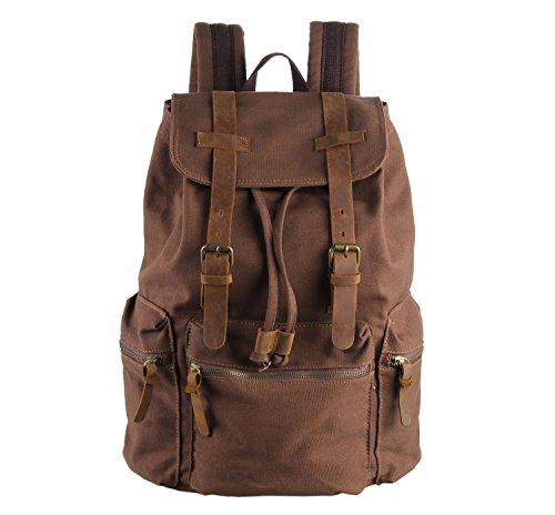 Everdoss Unisexe sac à dos avec rabat en toile sac de l'école cartable sac de sport de loisirs sac scolaire sac de voyage
