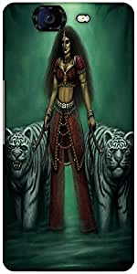 Snoogg Indian Gothic Goddess 2871 Designer Protective Back Case Cover For Micromax Canvas Knight A350