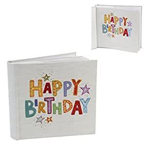 Blue Eyed Sun Superbe Collection bois/El Naturel Album Photo Papier Motif Happy Birthday