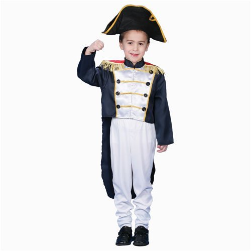 Historical Colonial General Dress up Costume Set - Toddler T4 by Dress Up - Colonial America Kostüm Kinder