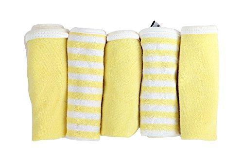 My Milestones Premium Baby Bath Washcloths / Mini Towels 5 pc set - Lemon Yellow
