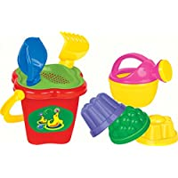 Polesie 4481 157 Sieve Shovel No. 2 Rake No. 2 3 Forms Small Watering Can No. 3-Sets: Flower Bucket, Medium, Multi Colour