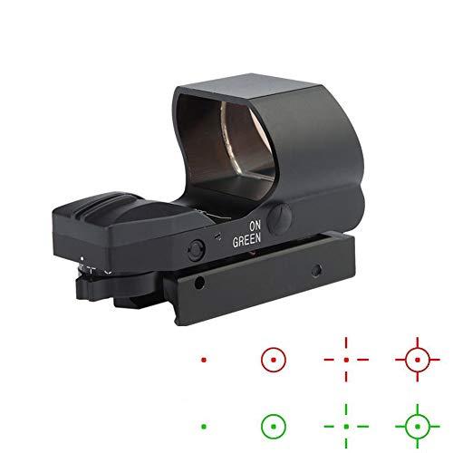 YODZ Roter Punkt-Anblick holographisches taktisches Zielfernrohr abnehmbares justierbares Absehen für 20mm Picatinny Schienenmontage und Abdeckung für Jagd-Armbrust