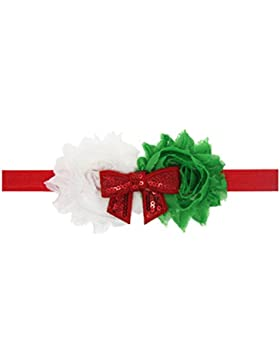 Zhhlaixing Christmas Baby Girl Headband Infant Headdress Handmade Sequins Bowknot Hairband Hair Accessories for...