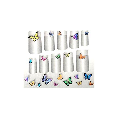 GLAM UP - Planche de Stickers Nail Art - Thème : Papillons