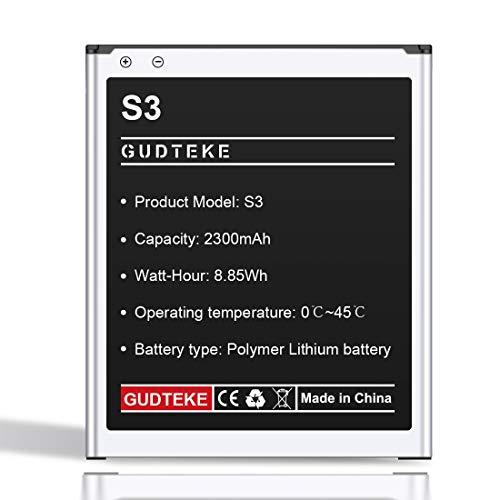 GUDTEKE Akku für Samsung Galaxy S3 Verbesserter 2300-mAh-Lithium-Ionen-Akku Ersatz Original-Akku EB-L1G6LLU Samsung S3 Interner Akku