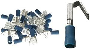 25 Teilisolierte Flachsteckhülsen Mit Abzweig 6 3x0 8 Blau 1 5 Bis 2 5 Mm Auto