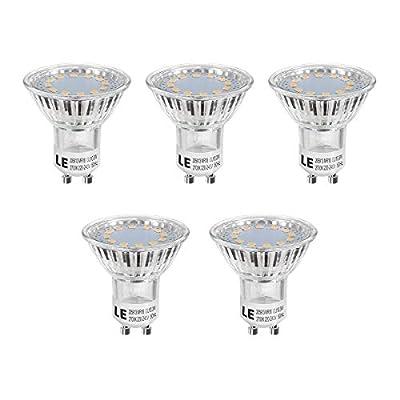 LE 5er GU10 LED Lampen, ersetzt 50W Halogenlampen MR16 4W Warmweiß 2700K 120° Abstrahwinkel LED Birnen Leuchtmittel 350lm von Lighting EVER