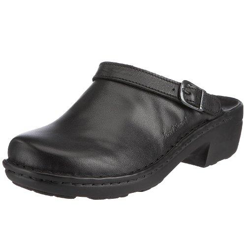 Josef Seibel Damen Betsy Clogs, Schwarz (Black 23600) , 41 EU (Leichte Leder Clogs)