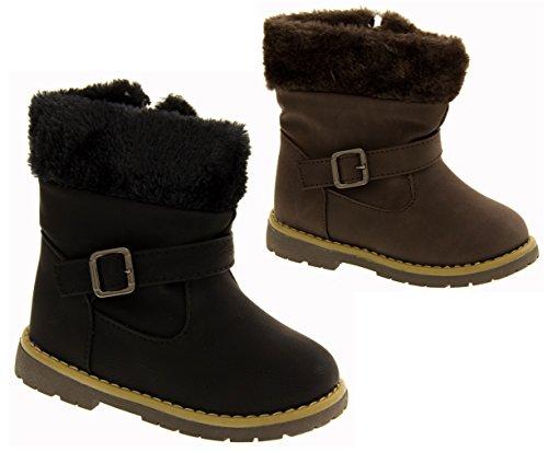 Kiddiflex Filles Superbes bottes d'hiver Casual en faux cuir