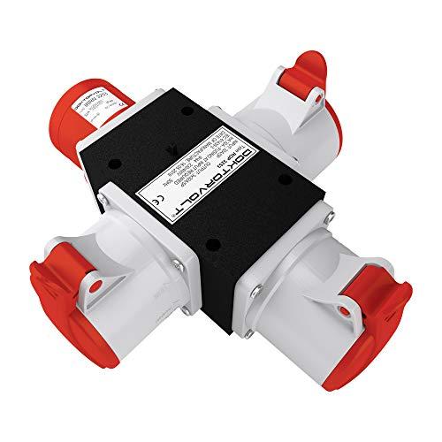 CEE Adapter 3 x 32A / 400 V Stromverteiler Baustromverteiler ROP 3253 Verteiler 6383