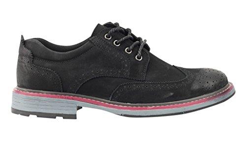 Pour Homme New Noir Bleu en daim synthétique Marron clair en cuir à lacets richelieu Wing Pointe Smart Casual Chaussures Derby pour homme Noir