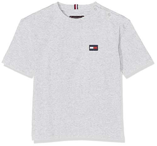 Tommy Hilfiger Baby-Jungen Essential Boxy Flag S/S T-Shirt, Grau (Grey Heather 004), Herstellergröße: 86 - Flag Grey T-shirt