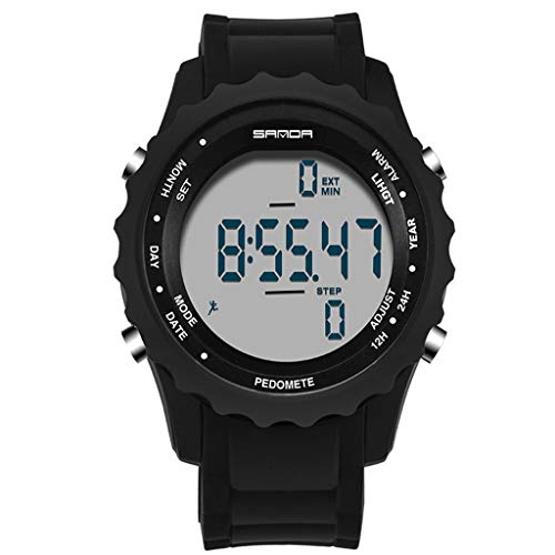 Men's Watches Humble Men Sports Watches 3d Pedometer Heart Rate Monitor Calories Counter 50m Waterproof Digital Led Mens Wristwatches G Style Shock Watches