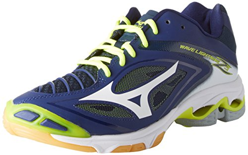 Mizuno Herren Wave Lightning Z3 Volleyballschuhe, Mehrfarbig (Bluedepths/White/safetyyellow), 44 EU