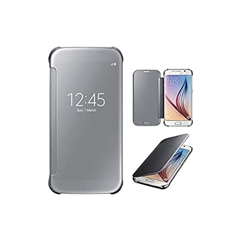 Etui Samsung S6 Edge Plus, Lincivius® [Full Clear], Housse Galaxy S6 Edge Plus Coque Portefeuille Rabat Refermable Protection Integrale Rigide Clapet Design Original Anti Choc Accessoires Compatibles Lincivius®