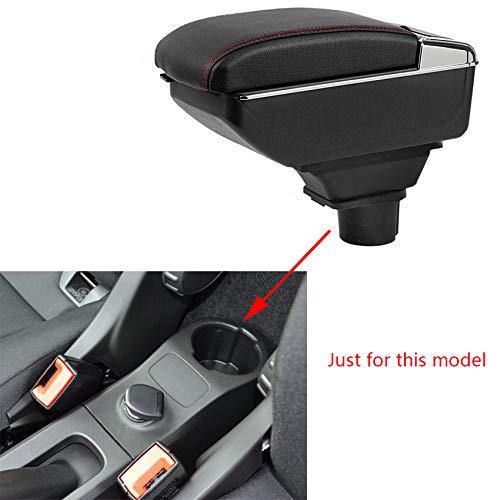 Für Smart Fortwo Forfour 2009-2018 Luxus Auto Armlehne Mittelarmlehne mittelkonsole Zubehör Eingebaute LED-Licht Schwarz