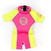 Jakabel Float Suit Girls Rosa Pink/Gelb