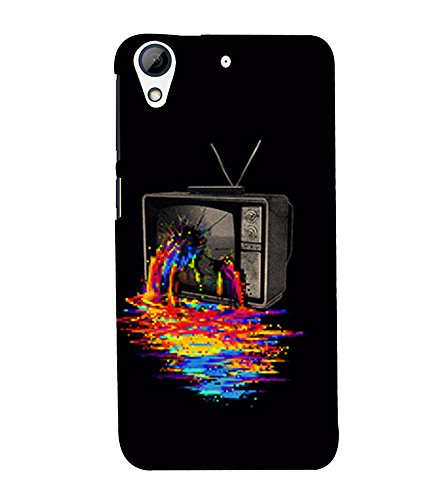 Broken Television 3D Hard Polycarbonate Designer Back Case Cover for HTC Desire 728 Dual Sim :: HTC Desire 728G Dual Sim  available at amazon for Rs.389