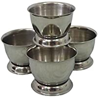 Sunnex Stainless Steel Set of 4 Egg Serving Cup Cups