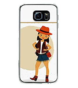 Fiobs Designer Back Case Cover for Samsung Galaxy S6 G920I :: Samsung Galaxy S6 G9200 G9208 G9208/Ss G9209 G920A G920F G920Fd G920S G920T (Fashion Girl Garly Hat)