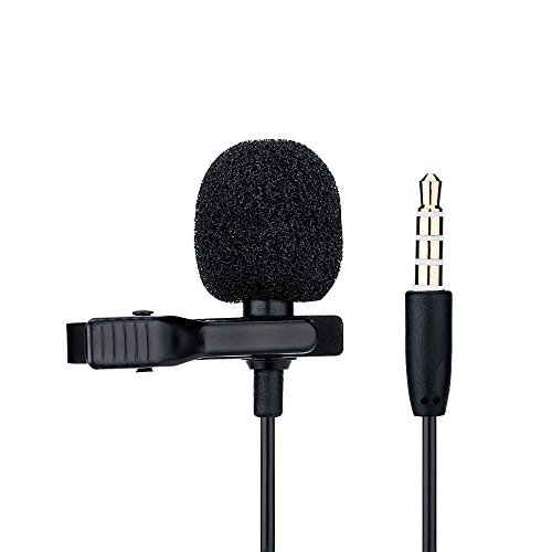 JJCJJC Lavalier Microphone for Smartphone or Tablet such as for Apple iPhone 8 7 7 Plus 6s 6s Plus 6 5sAndroid Samsung Galaxy S8 S7Huawei Mate 9 Mate 10 P9 P10iPad (3rd and 4th Generation) 41hDTqAGQhL
