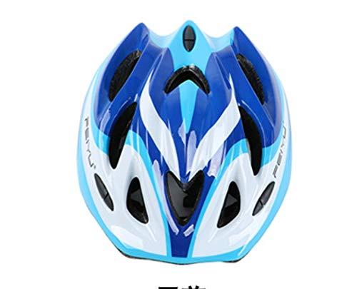ZMJY Kinderhelm-Schutzausrüstung Fahrradrad Skate-Helm Schutz,Blue