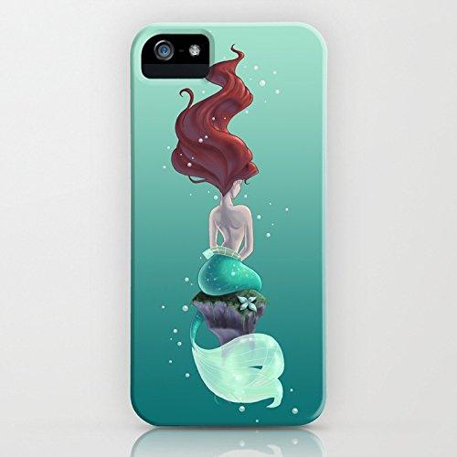 Cover iPhone SE, ZQ-Link Cover iPhone SE / 5 / 5S Silicone Case Molle di TPU Sottile Custodia per iPhone SE / 5 / 5S-magia sirena