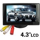 iHarbort 4,3 pouces écran LCD moniteur pour caméra de vision arrière de voiture Support couleur CMOS / CCD l'image (4.3 pouces LCD)